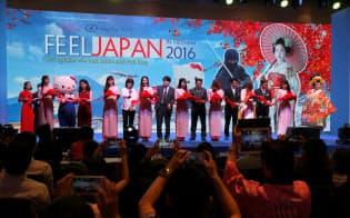 7月16日から2日間開催された、日本を紹介する「FEEL JAPAN IN VIETNAM 2016」には日本に興味を持つ3万人が集まった(ホーチミン市)