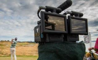 ゴルフ4大メジャーの1つ、全米オープンの2015年の大会でVR用に撮影するカメラ(写真:NextVR)