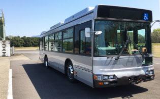 先進モビリティが16年4月まで実施していた自動運転の実験で使用していたバス