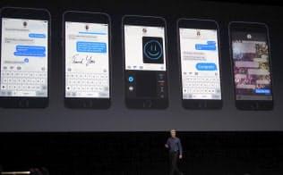 6月に米サンフランシスコ市で開幕した年次世界開発者会議「WWDC」でiOS10を発表した