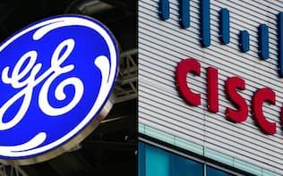 GE(左)とシスコシステムズ=(C)GE:Testing Cisco:Ken Wolter/Shutterstock