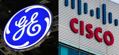 GE(左)とシスコシステムズ=(C)GE:Testing Cisco:Ken Wolter/Shutterstock
