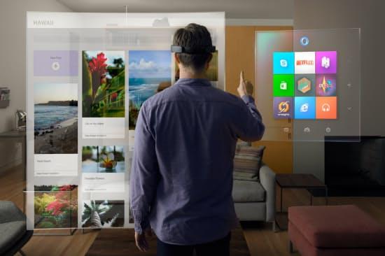 ホロレンズの利用イメージ1(図:Microsoft)