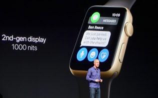 アップルウオッチ シリーズ2は現地時間9月7日に開催したiPhone7の発表会で同時に発表された