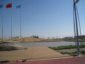 写真1 2010年5月に日本経済団体連合会(経団連)が視察団を送り込んだ、中国唐山市にある「曹妃甸エコシティ」