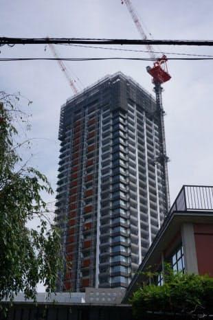 「Brillia Towers 目黒 サウスレジデンス」は高さ約136m(写真:赤坂麻実)