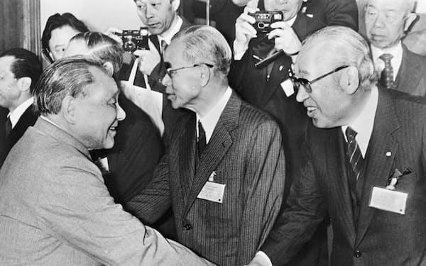 鄧小平氏と握手する筆者(右端)