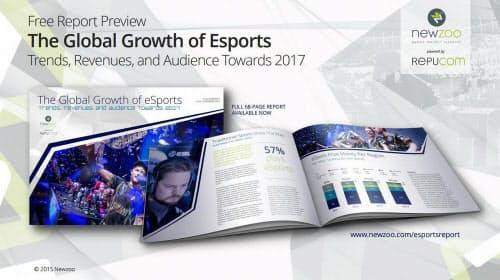 Newzooが2015年に発行したeスポーツ産業白書「The Global Growth of Esports」の最初のページ(出典:Newzoo)