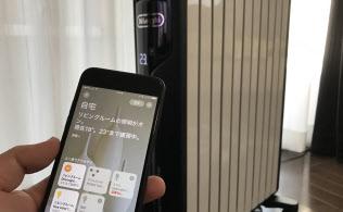 iPhoneを使ってデロンギのヒーターをコントロールできる