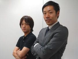 ソフトバンク サービスコンテンツ本部VR事業推進室の加藤欽一室長(右)と藤田誠司氏(左)