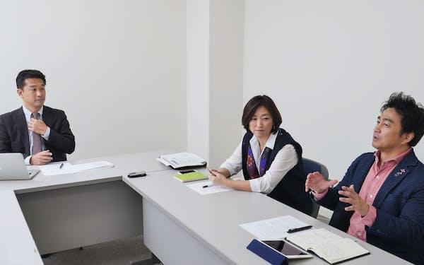 対談の様子。左から神武直彦氏、田中ウルヴェ京氏、久木留毅氏(写真:加藤康)