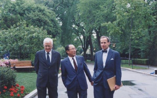 ハーバード・ビジネススクールの教授たちと(1989年5月)