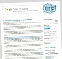 米グーグルが「Public Policy Blog」で公開した提案文書