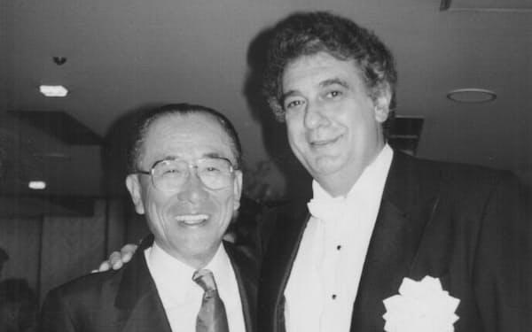 テノール歌手のドミンゴ氏と(93年5月)