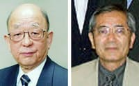 鈴木章・北大名誉教授(左)と根岸英一・米パデュー大特別教授(同大ホームページより)=共同