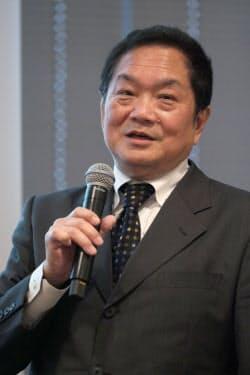 写真1 サイバーアイ・エンタテインメント 代表取締役社長兼CEO 久多良木健氏(撮影:新関雅士)