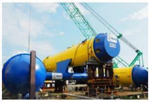 水中浮遊式海流発電システム実証機「かいりゅう」(写真:2者共同のニュースリリースより)
