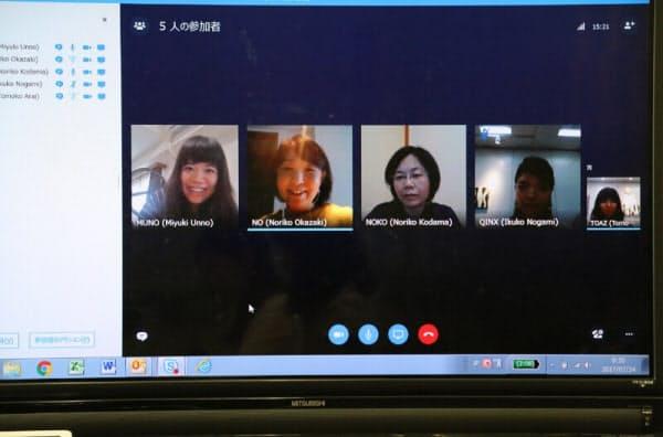 Skype for Businessを使って定例会議に参加するノボ ノルディスク ファーマの社員