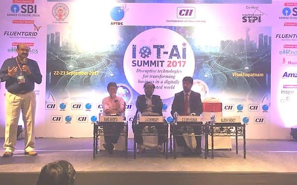 CIIアンドラプラデシュが主催したIoT&AIカンファレンス(2017年9月、アンドラプラデシュ州のビシャカパトナム)