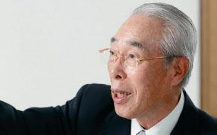 川田達男(かわだ・たつお)氏。1940年福井県生まれ。62年にセーレン(旧 福井精練加工)入社、87年に代表取締役社長就任。2014年から現職(写真:村田和聡)