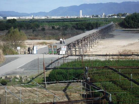 改良して架け替えた後の上津屋橋(写真:京都府山城北土木事務所)