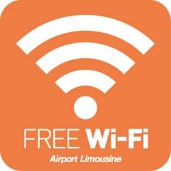 「Limousine Bus Free Wi-Fi サービス」のエリアサイン(出所:東京空港交通)
