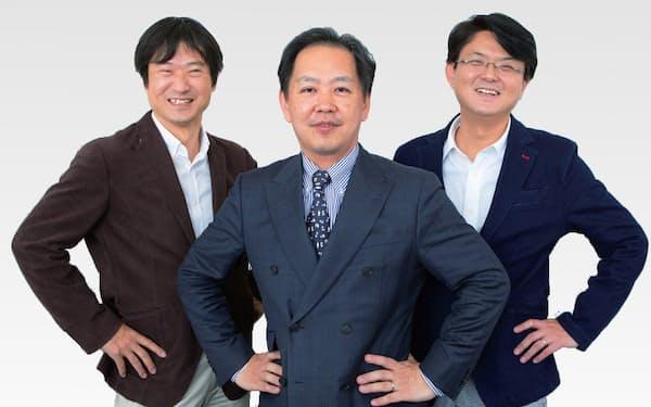 左から藤川太さん(家計の見直し相談センター)、塚原哲さん(FPI-J 生活経済研究所長野)、横山光昭さん(マイエフピー)