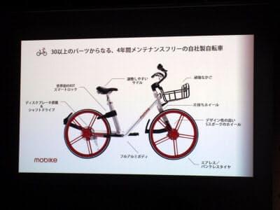 モバイクのシェアバイクサービス「Mobike」で利用する自転車
