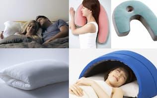睡眠に対する関心が高まる中、ユーザーの目的に合わせて開発された個性的な枕が増えている