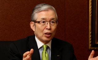 日本電産の永守重信会長兼社長CEO(最高経営責任者)=小倉正嗣撮影