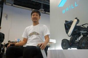 米国で発売になった「モデルCi」に乗る杉江理CEO