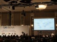 国際再生可能エネルギー機関(IRENA)第8回総会の模様(撮影:日経BP総研 クリーンテック研究所)