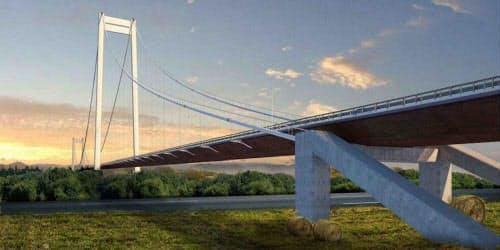 ブレイラ橋の完成予想図(資料:ルーマニア道路インフラ公社)