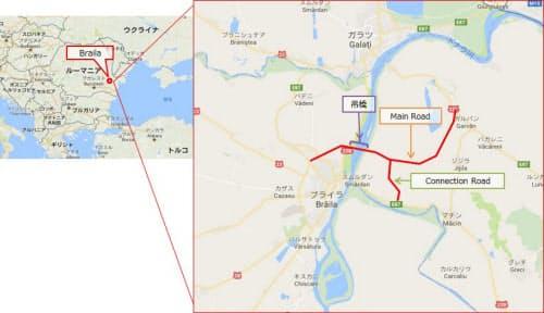 ブレイラ橋の建設予定地(資料:IHI)