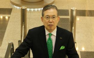 日本電産の永守重信会長兼社長CEO(最高経営責任者)(写真:小倉正嗣)