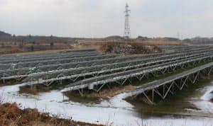 BCPGジャパンが開発・運営している太陽光発電所の例。秋田県にかほ市の出力約13MW(出所:日経BP)