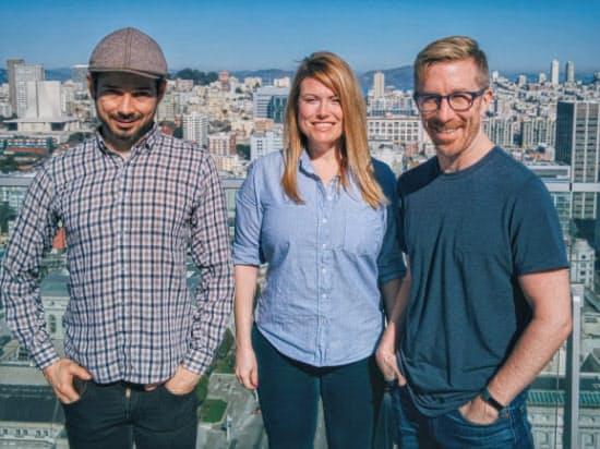 モリー共同創業者の3氏。左からイーサン・スティン氏、エスター・クロフォード氏、クリス・メッシーナ氏 (C)Molly