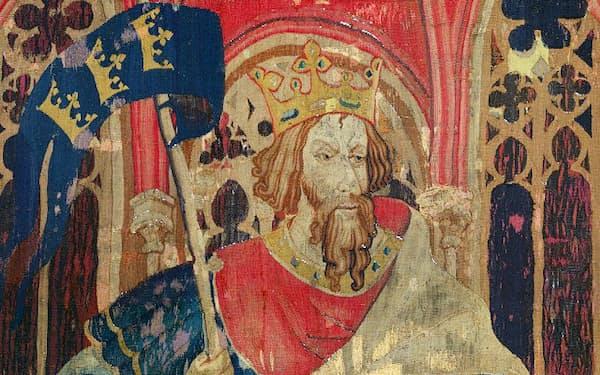 アーサー王を描いた14世紀のタペストリー