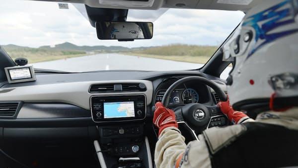 日産EV「リーフ」実車試験、最高速度を測定してみた