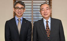 小森治社長(右)と長島聡社長