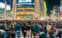 購買データをAIが分析し消費行動を追跡する(東京・渋谷駅前)
