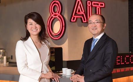 Fringe81の田中弦社長(右)と、アクセンチュアの本徳亜矢子マネジング・ディレクター