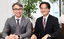 白坂成功氏(右)と長島聡氏