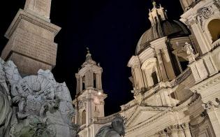 P20プロで夜間撮影を実施した。ローマのナボナ広場で撮影したが、細かなディテールがきっちり撮影できている