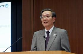 NTT持ち株会社の鵜浦博夫社長