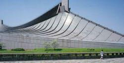 改修前の2009年に撮影した第一体育館。塗装の劣化が目立っていた (写真:細谷 陽二郎)