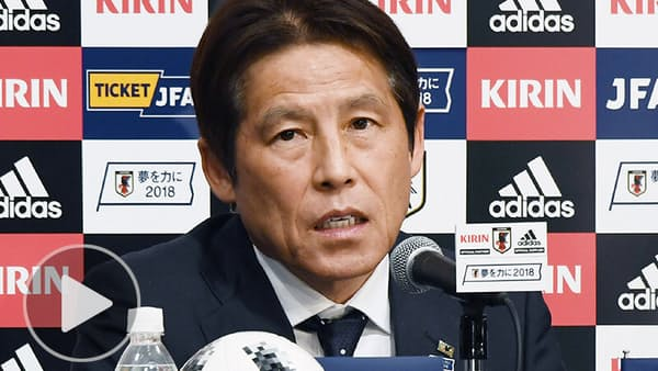 W杯日本代表23人を発表 本田、香川ら選出