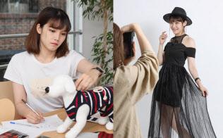 竹内彩香さんは犬の洋服デザイナーだが副業でモデルの仕事もする(東京都渋谷区)