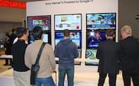 2011年のCES(コンシューマー・エレクトロニクス・ショー)でソニーはグーグルTVを展示した