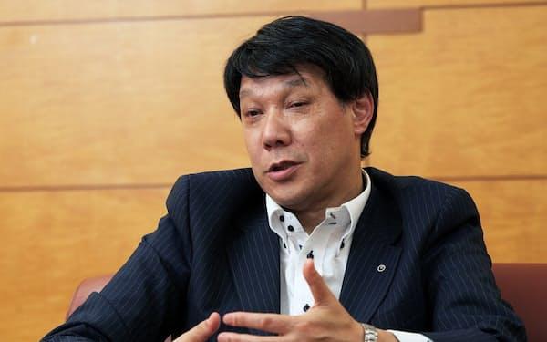 NTT東日本の井上福造社長(写真:新関雅士)